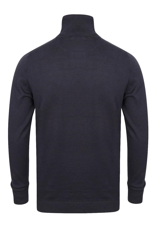 Kensington Eastside Mens Denbigh Roll Neck Long Sleeved Classic Cotton Top T-Shirt