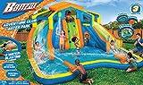 Banzai Adventure Club Water Park Spring / Summer Inflatable 2-Lane Air Dual Water Slide + Splash Pool (includes Motor Blower)