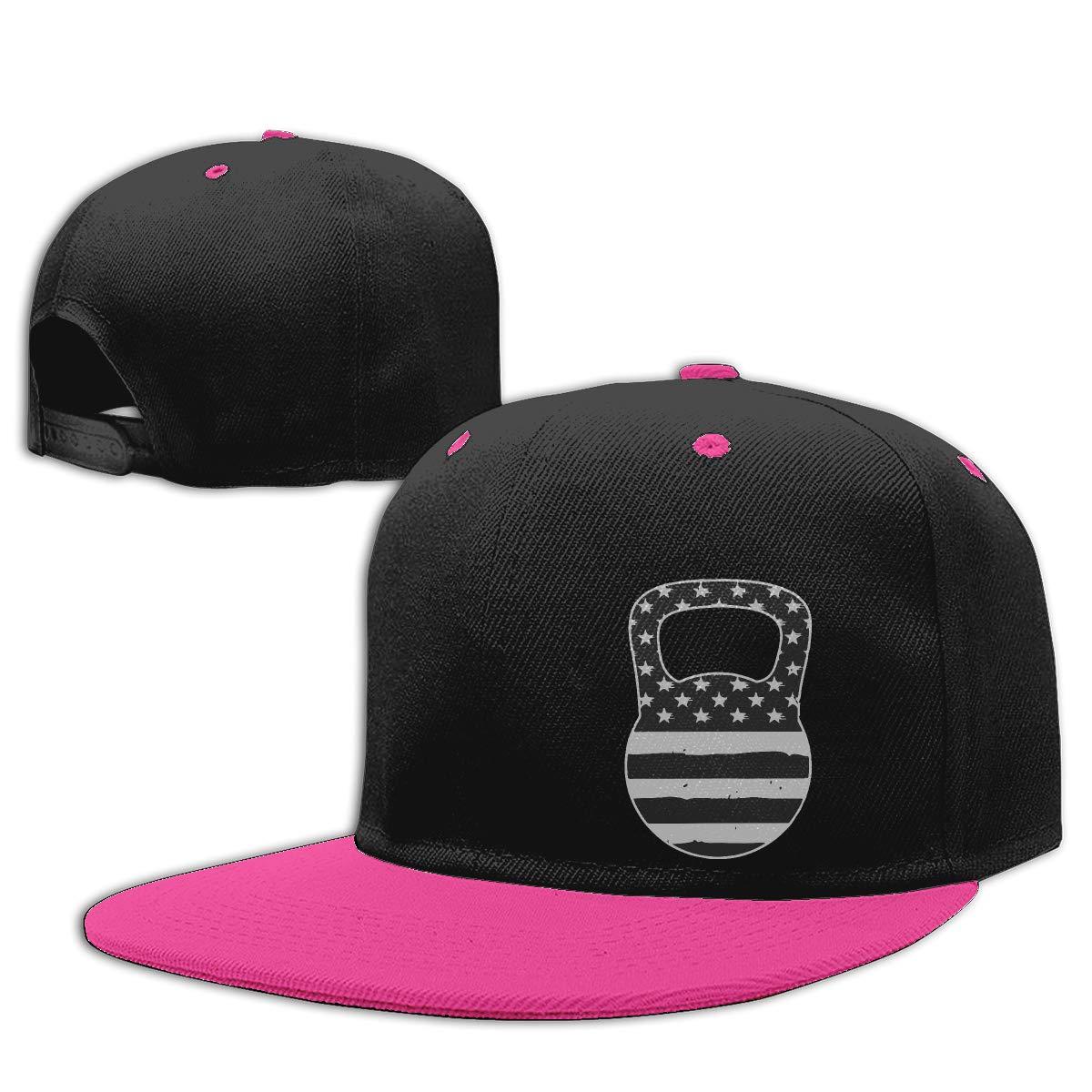 Kettlebell American Flag Fashion Flat Peaked Baseball Caps NMG-01 Men and Women Hiphop Cap