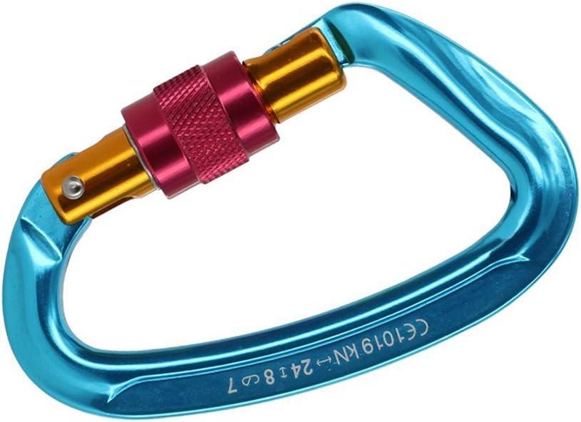 Beito Alpinismo arrampicata vite di bloccaggio moschettone in acciaio 24/kN blu