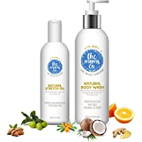 The Moms Co. Dry Skin Combo Pack with Body Wash, 200ml and Stretch Oil, 100ml