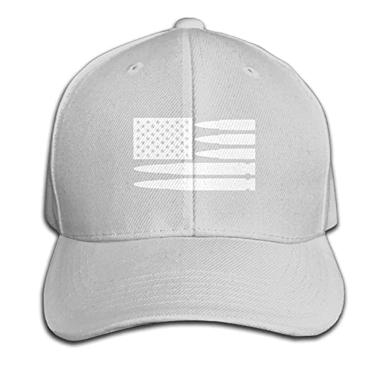 f0679cbdc32e0 Amazon.com  CAPS ASDA Bullet American Flag Unisex Trucker Cotton Cap ...