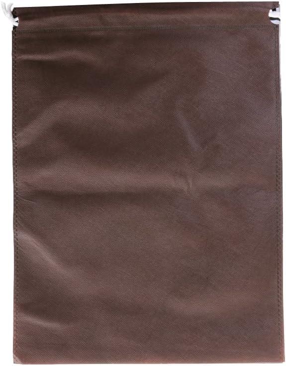 23x17cm// 9.06 x 6.69 inch Black 10pc Portable Shoes Bag Travel Storage Pouch Drawstring Dust Bags Non-Woven