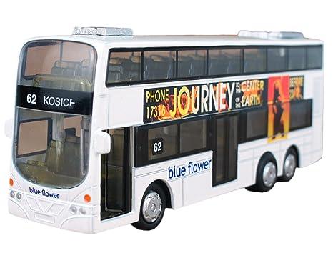 Happy Cherry - Autobús Mini de Juguete Infantil con Luz y Sonido de Dos Pisos Modelo