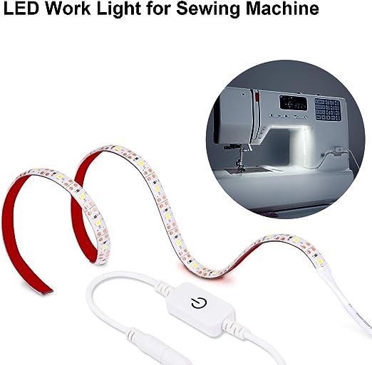 Maylit - Tira de luces LED para máquina de coser, 0,5 m, 30 luces ...
