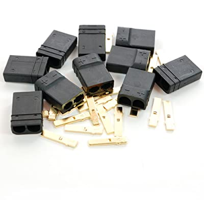 10 pcs Female TRX Type Plug Connector for RC Motor Battery ESC Speed Control for Traxxas Slash e-maxx x-maxx e-revo rustler Stampede TRX-4 Spartan Catamaran: Toys & Games