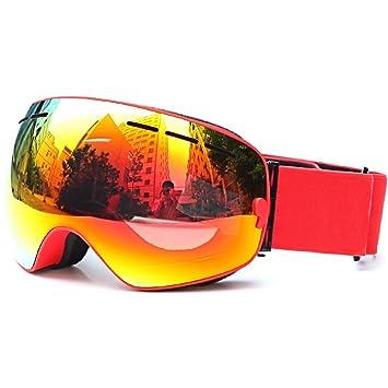 DECANON Gafas de esquí Gafas de nieve polarizadas con capas dobles Protección UV Marco de miopía