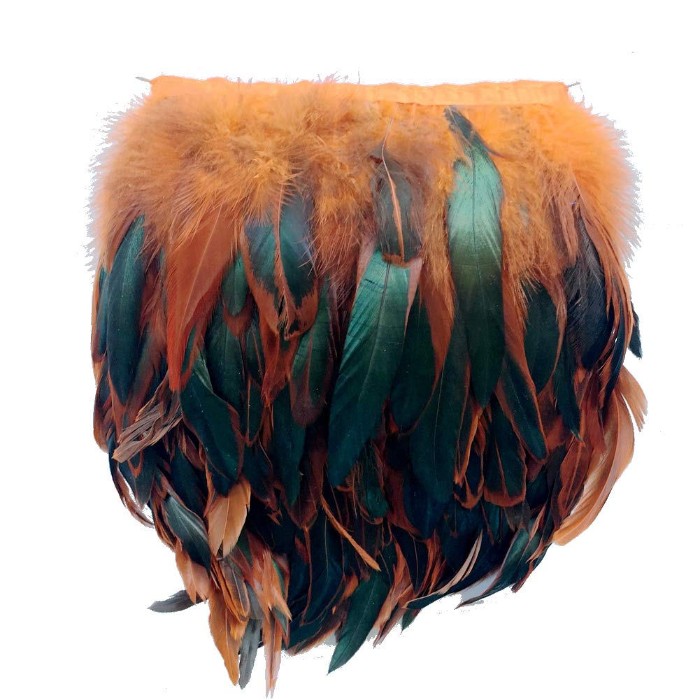 Fuchsia Sowder Rooster Hackle Feather Fringe Trim 5-7 in Width Pack of 5 Yards