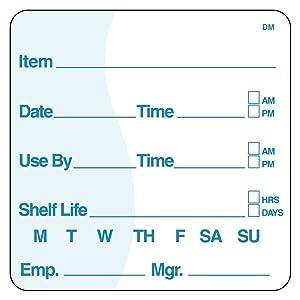 DayMark Dissolvable Item/Date/Use-by Shelf-Life Label, 2