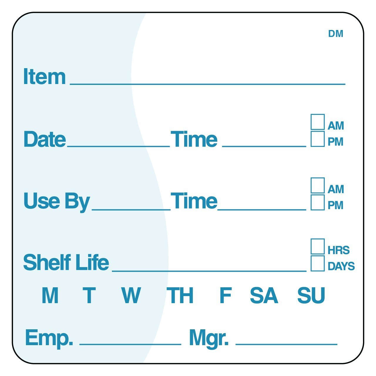 DayMark Item/Date/Use By/Shelf Life Dissolvable Label, 2'' x 2'' (Roll of 250) by DayMark Safety Systems