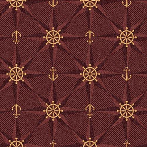 Koeckritz Rugs Mariner s Tale Pattern Indoor 26oz Cut Pile Area Rug 12 x 15 , Wine