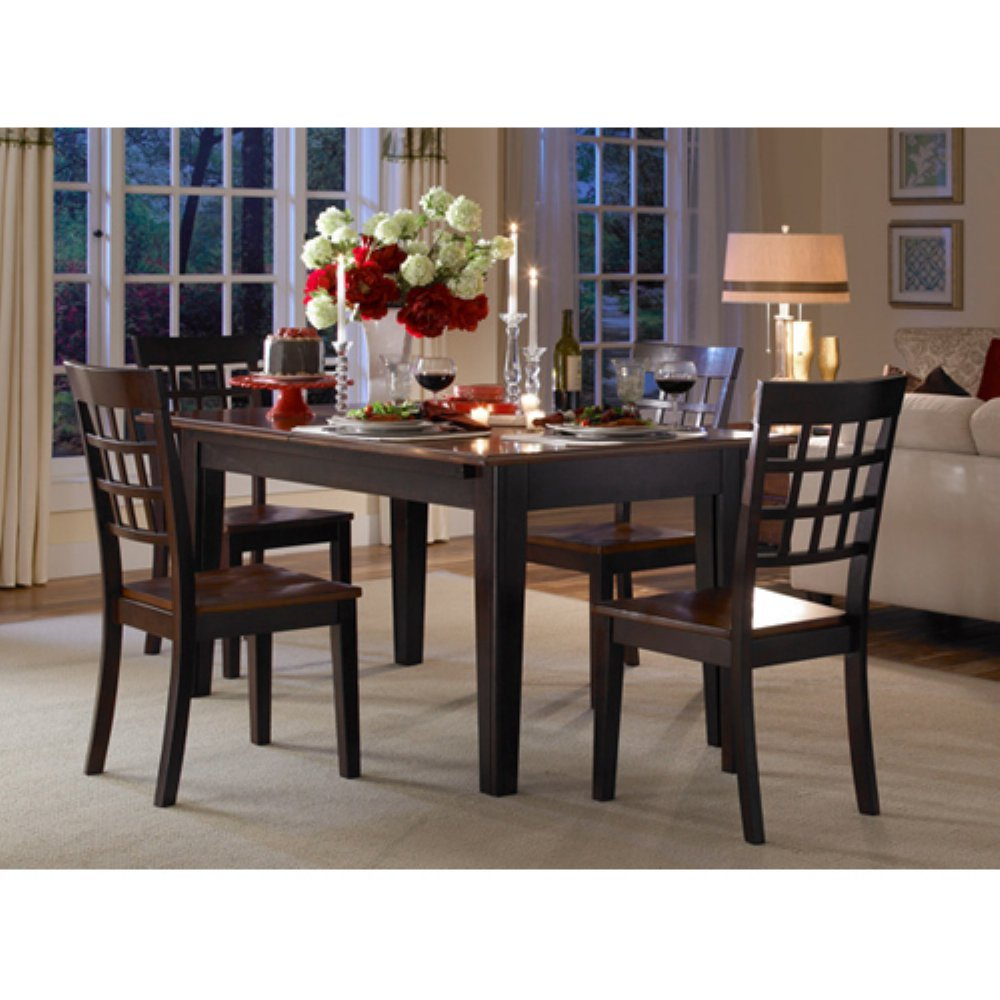 Amazon A America Bristol Point 132 Rectangular Dining Table With 3 24 Leaves Warm Grey Kitchen