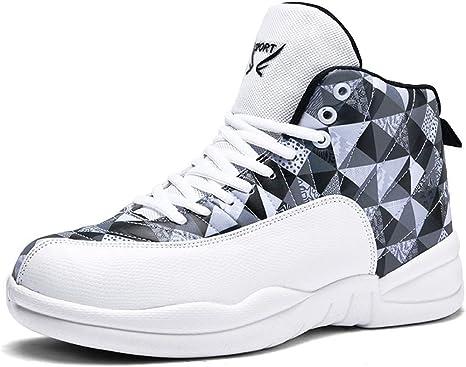 DZTIAN Zapatillas de Baloncesto para Hombre, Botas Altas de ...
