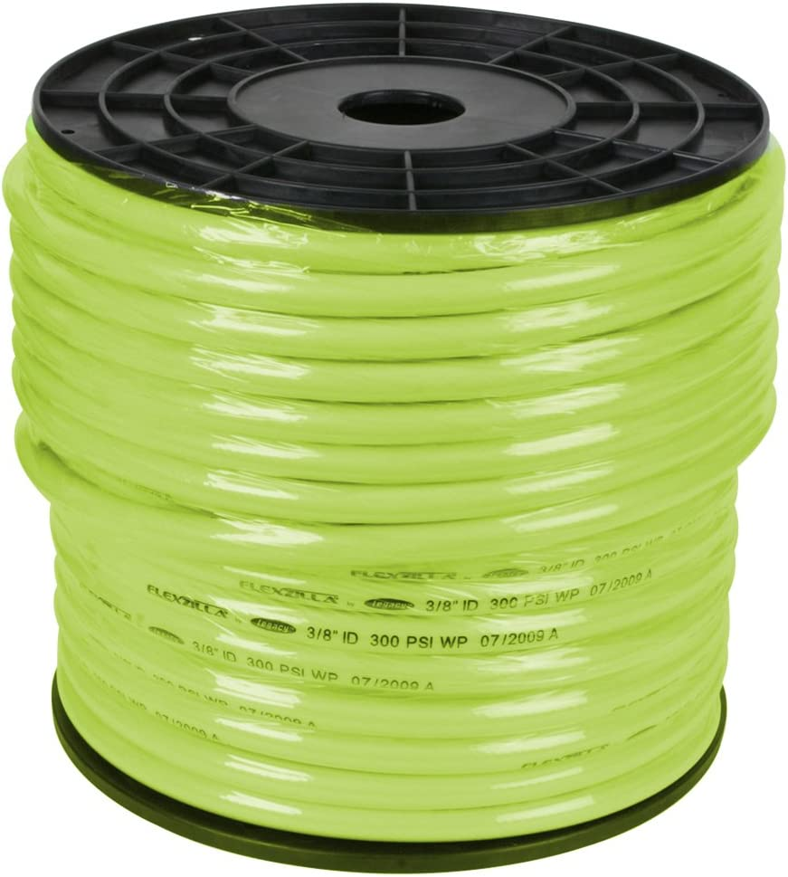Flexzilla Pro Air Hose, Bulk Plastic Spool, 3/8 in. x 250 ft, Heavy Duty, Lightweight, ZillaGreen - HFZ38250YW