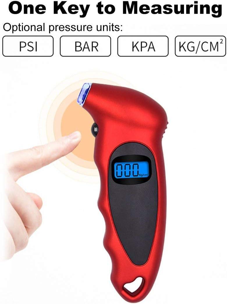 Sylvialuca High-precision Tire Pressure Gauge 0-150 PSI Backlight Digital Tire Pressure Monitoring Car Tire Pressure Gauge
