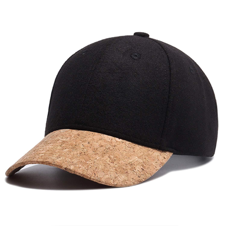 Sunonip Automne Li/ège Mode Simple Hommes Femmes Chapeau Chapeaux Casquette De Baseball Hip Hop Snapback Simple Classique Casquettes Hiver Chapeau Chaud