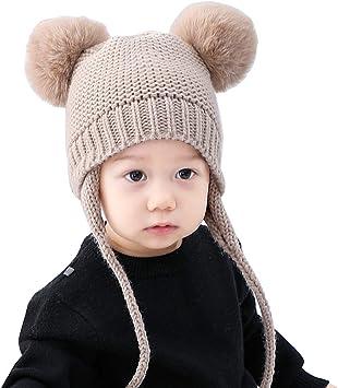 Yunhany Direct bebé niño Invierno cálido Sombrero niños Tejer ...