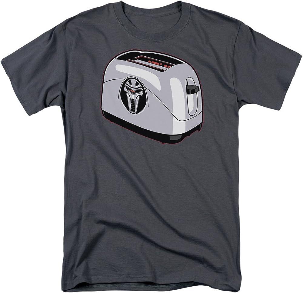 Battlestar Galactica Toaster Adult T-Shirt in Charcoal