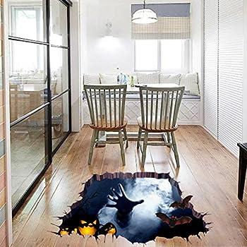 Tank monster toilet d cor sticker vinyl decal for 3d flooring uk