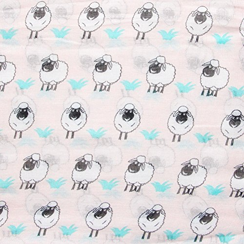 MissShorthair Women's Fashion Soft Light Cartoon Sheep Sheer Infinity Scarf (Lovely Pink)