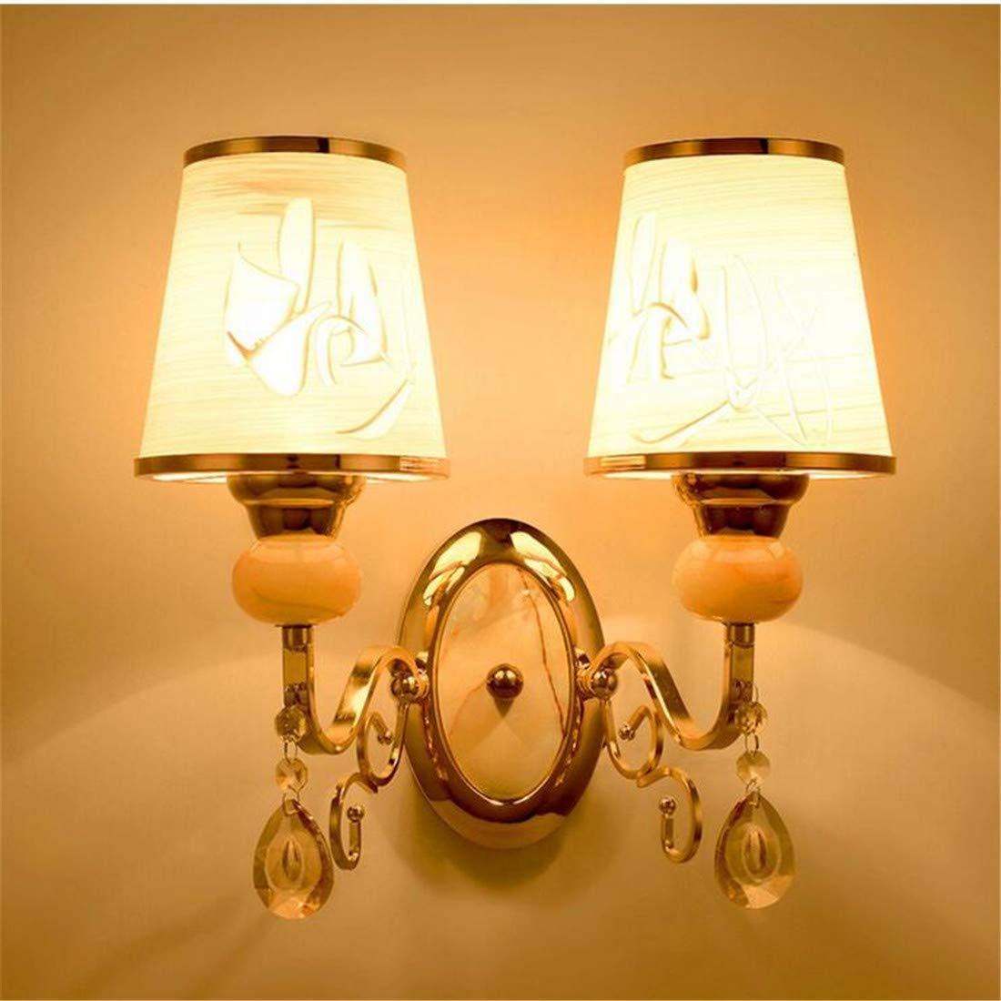Vintage Chandelierwall Light Sconce E26   27 Base Der Kopf des Bettes führte kreative Kristalltreppe im Wohnzimmer Schlafzimmer Korridor Tv-Wandlampe