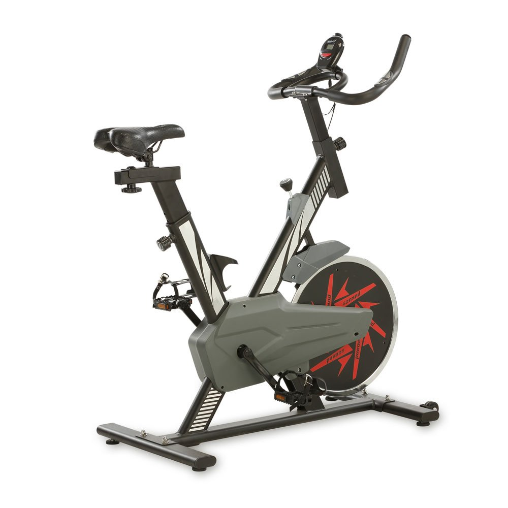 Aktivshop Heimtrainer Indoor Bike Fitnessbike inklusive Display, Handpulsmessung und stufenlos einstellbaren Widerstand