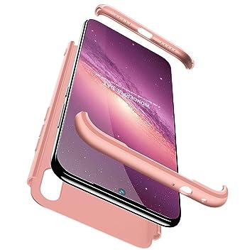 Funda Compatible Xiaomi Redmi Note 7(7S)/Note 7 Pro Carcasa[2 Vidrio Templado]360° protección Caja Ultra Delgado Duro PC 3 en 1 Anti-golpes ...