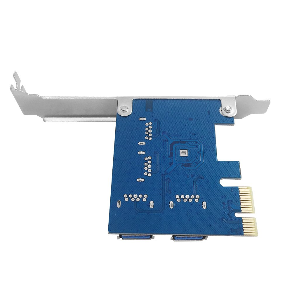 9daysminer PCI-E to 4 Port USB3.0 Expansion Card Adapter X1 Riser Miner Card PCI Express Extender Adapter Board for Ethereum (ETH) Mining by 9daysminer (Image #4)