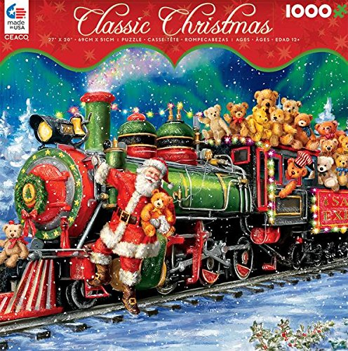 Classic Christmas - Teddy Bear Train - 1000 Piece Ceaco Jigsaw Puzzle - Christmas Bear Train