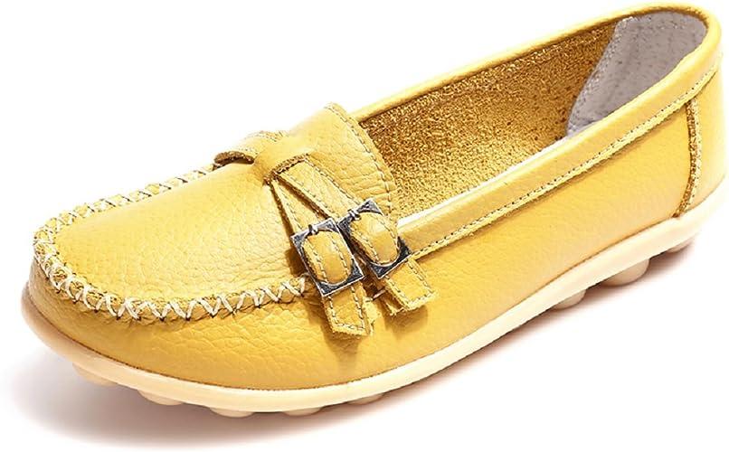 Espadrilles Conduite Casuel Chaussures Compensées Slip Femme Plate 44 Mocassins Noir Multicolors Cuir Confort on 34 8OPn0wk