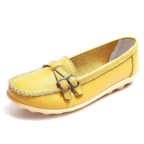 NEOKER Mujer Mocasines Plataforma Casual Loafers Primavera Verano Cuero Zapatos de Cuña Negro Multicolors 34-44: Amazon.es: Zapatos y complementos