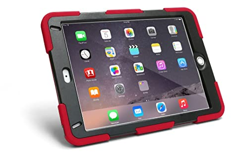 online store 3f0cf 6c654 New iPad 6th Generation (2018) Case [Red] with Screen Protector and  Kickstand for Kids, works with 5th Gen (2017) 9.7 inch model