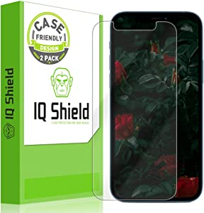 IQ Shield Screen Protector Compatible with Apple iPhone Pro 12 (6.1 inch)(2-Pack)(Case Friendly) Anti-Bubble Clear Film