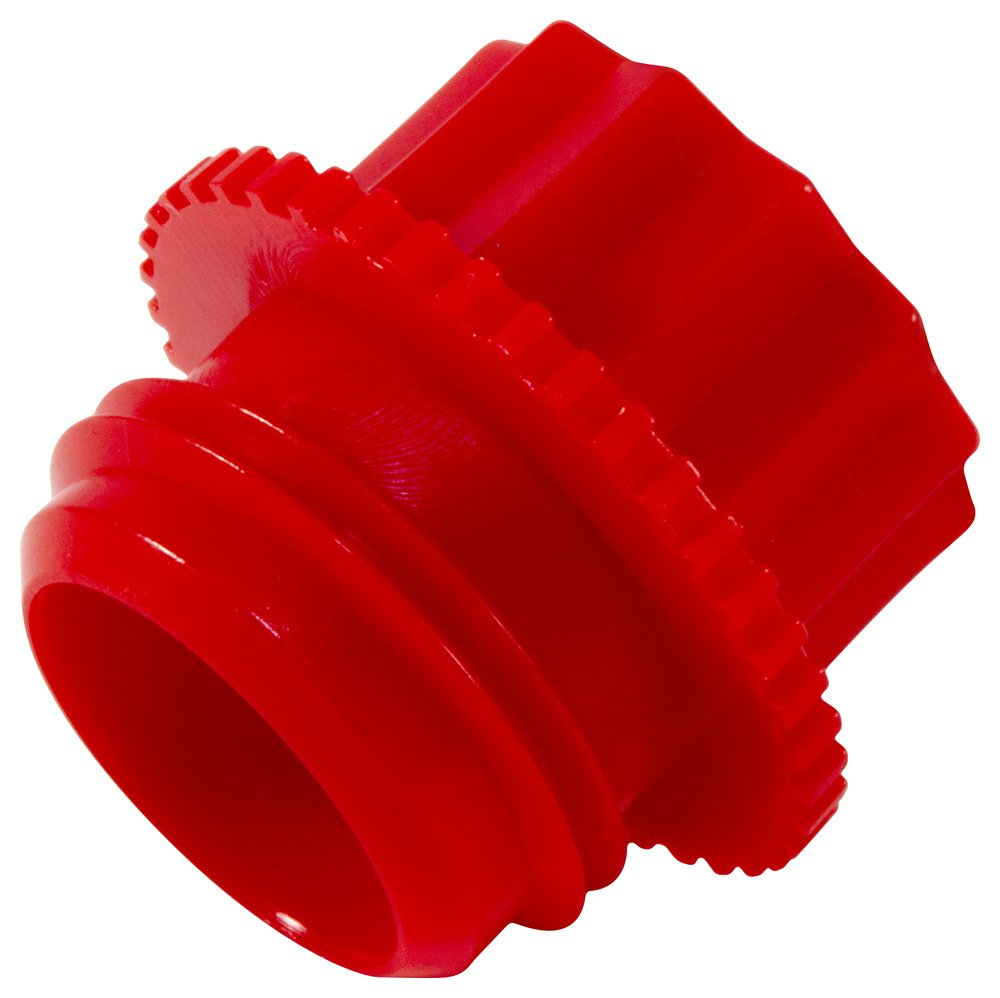 Caplugs 99394672 Plastic Threaded Plug for Pipe Fittings. P-28B, PE-HD, To plug thread size 1/4 NPT'', Red (Pack of 200)