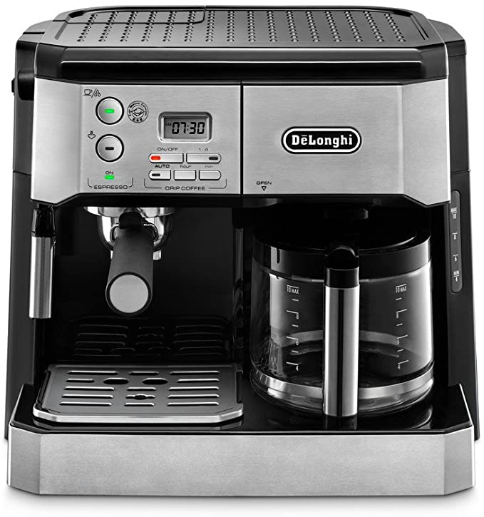 Amazon.com: DeLonghi BCO430 Combination Pump Espresso and 10-Cup Drip Coffee Machine with Frothing Wand, Silver and Black: Kitchen & Dining