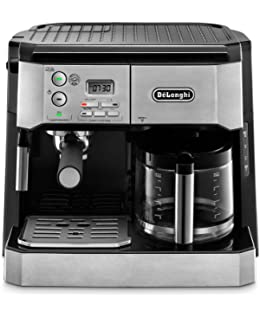 DeLonghi BCO430 Combination Pump Espresso and 10-cup Drip Coffee Machine with Frothing Wand,