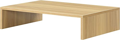 Convenience Concepts Designs2Go Small TV Monitor Riser, Light Oak