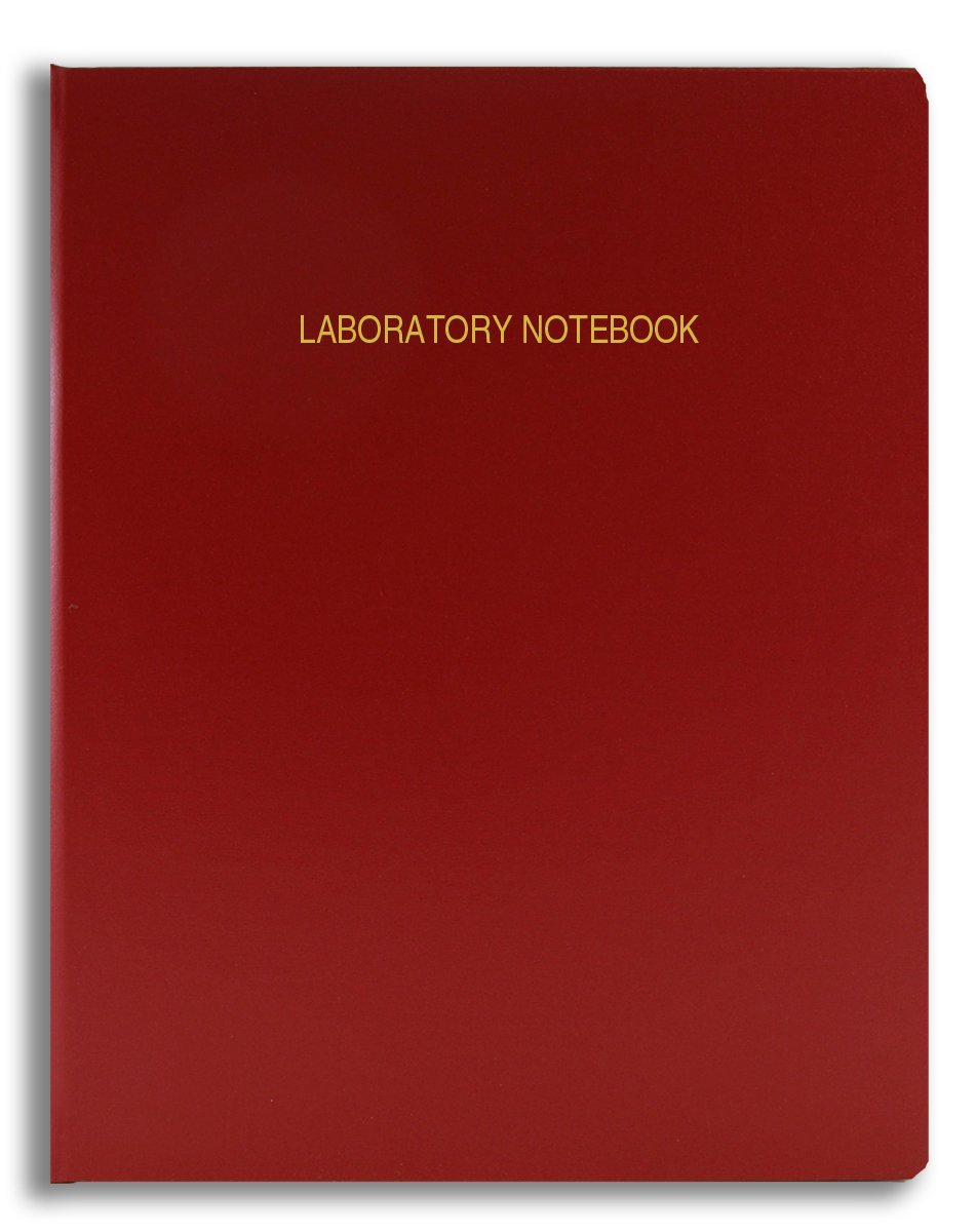 BookFactory Economy Red Lab Notebook - 96 Pages (Grid Format), 8 7/8'' x 11 1/4'', Flexible Red Cover Laboratory Notebook (E-LIRPE-096-LGR-A-LRT1)