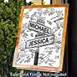 Alternative Wedding Guest Book Photo - Have Your Guests Sign the Customized Mounted Print \