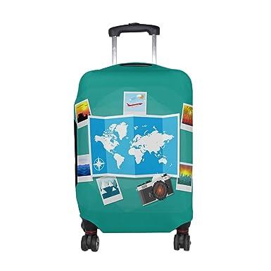 Amazon alaza world map compass plane luggage travel suitcase alaza world map compass plane luggage travel suitcase cover case protector gumiabroncs Image collections