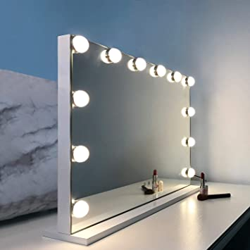 Amazon.: WAYKING Makeup Mirror with Lights, Hollywood Lighted