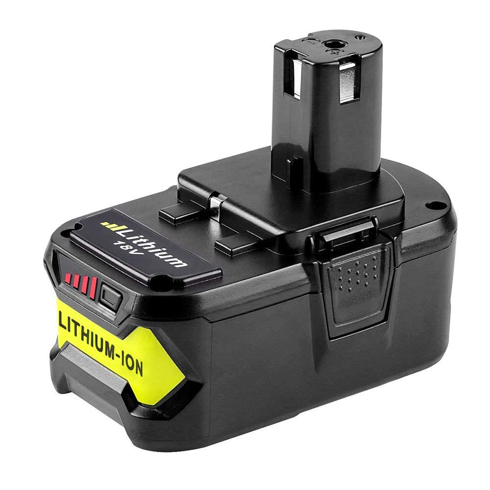 Dosctt Pour Ryobi RB18L40 18V 4,0Ah Li-Ion Remplacement Batterie One Plus P102 P103 P104 P105 P107 P108 P122 RB18L15 RB18L25