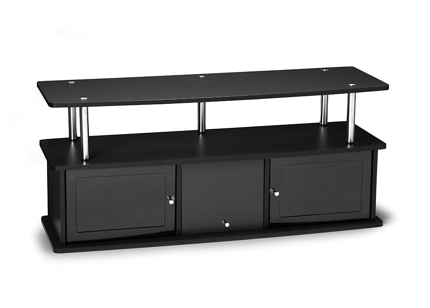 Convenience Concepts Designs2Go TV Stand with 3 Cabinets Black