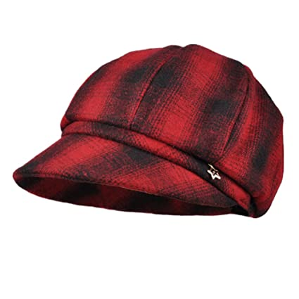 c7254a4d8ba Woolen Women Winter Caps Classic Plaid Hat Beautiful Bucket Hats Sun hat  Adjustable Girl friends Christmas