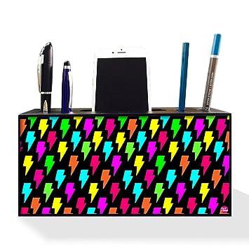 25ead8423b Amazon.com : Nutcase Designer Pen Mobile Stand Holder for Office Table-Wooden  Desk Organizer-4