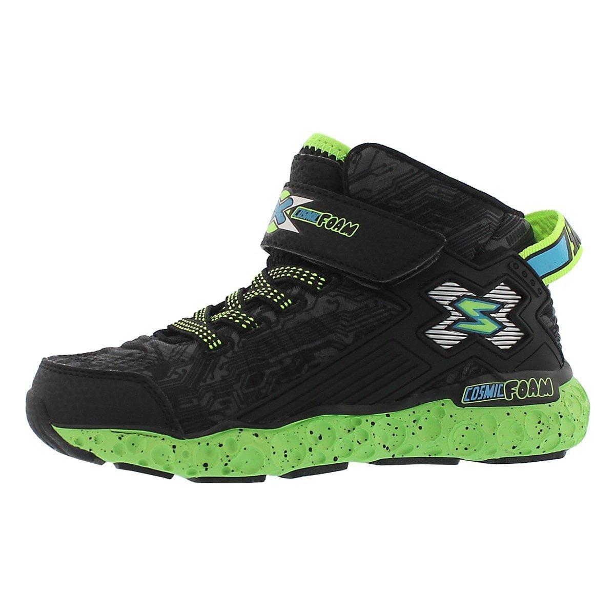 Skechers Boys' Cosmic Foam Sneaker Blk/Lime 13 M US