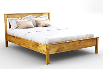 premium selection a9829 2a8c8 Wooden Pine King Size Bed Frame