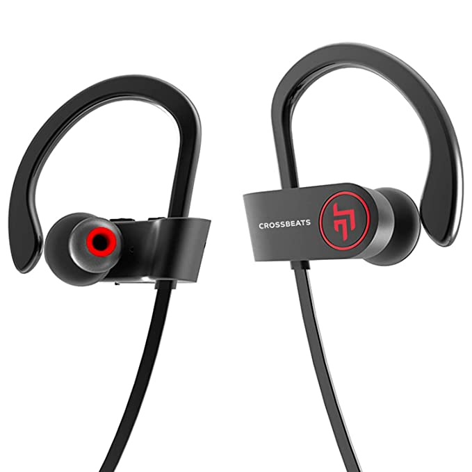 Crossbeats Raga Wireless Bluetooth Earphones With Microphone Ipx 4 Sweatproof Sports Design With Carry Case Hd Sound Super Bass Cherry Black Amazon In Electronics