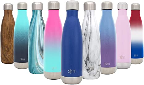 Simple Modern Wave 1000ml Botella De Agua - Acero Inoxidable 18/8, Doble Pared