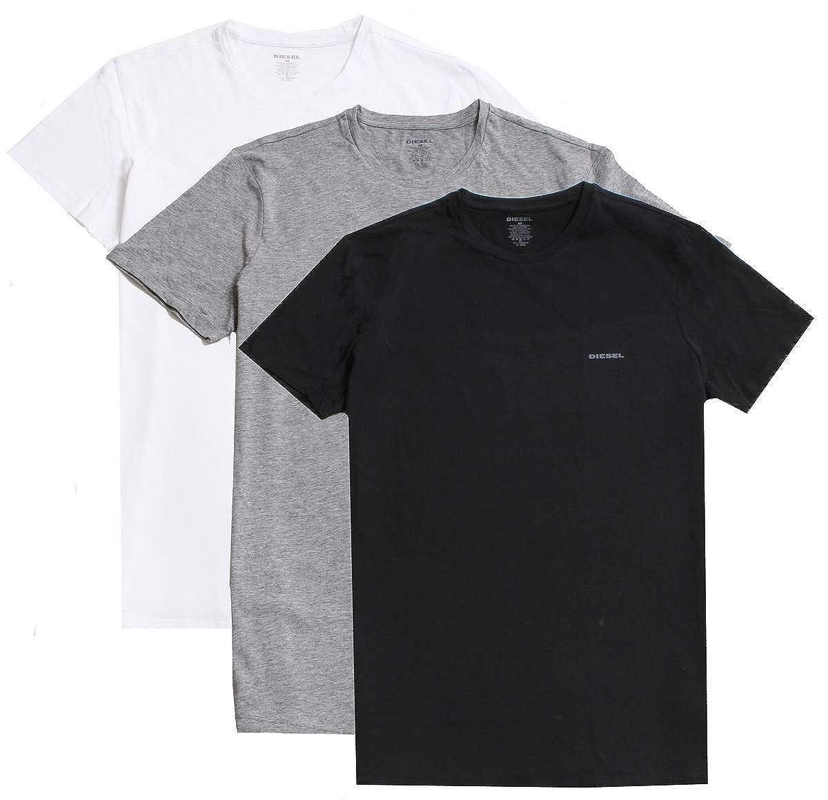 Diesel Mens Jake 3-Pack Essentials Crew Neck T-Shirt Diesel Men' s Underwear 00SPDG0AALW